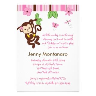 Baby girl shower invitations free printables lil monkey girl baby girl shower invitations free printables lil monkey girl monkey baby shower invitation printable filmwisefo