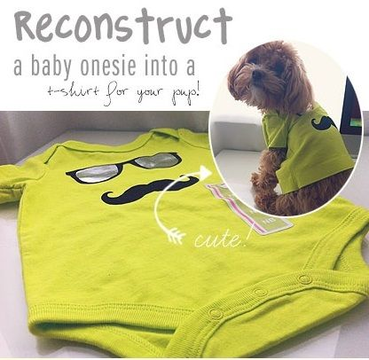 How To Turn A Baby Onesie Into A Pup Shirt Picture