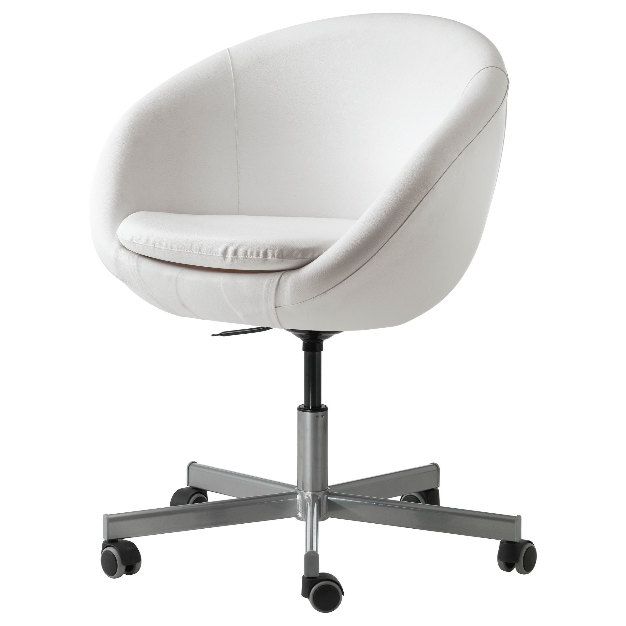 desk chairs white clear plastic dining skruvsta swivel chair idhult ikea the perfectly cute and functional seat for my home office