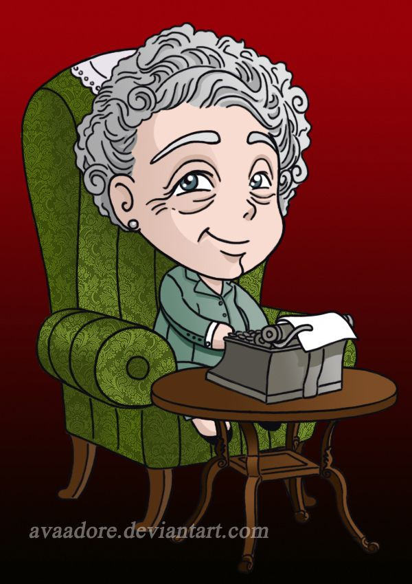 Agatha Christie By Avaadore With Images Agatha Christie