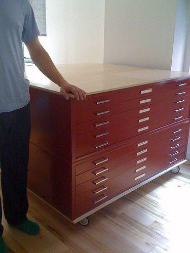 Flat Files On Casters Art Studio Room Flat File Cabinet Flat Files