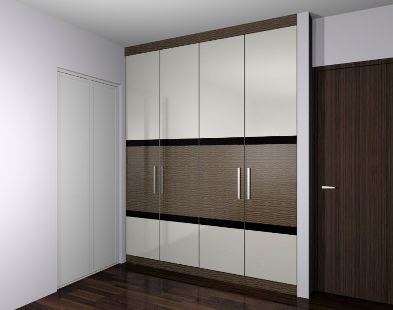 Fixed wardrobe design ideas wardrobe designs product for Cupboard door design ideas