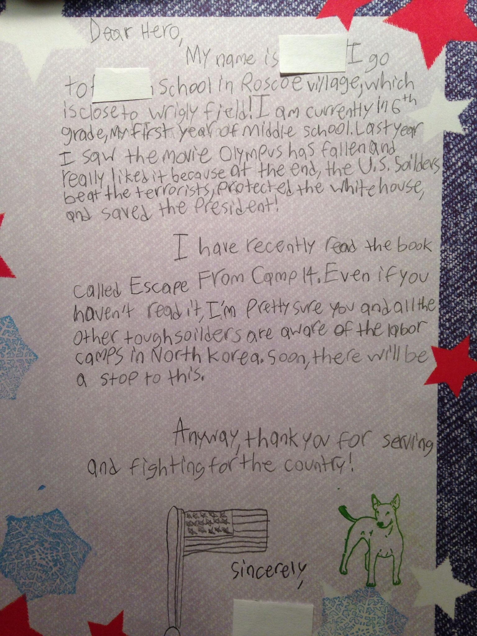 sample letter to soldier