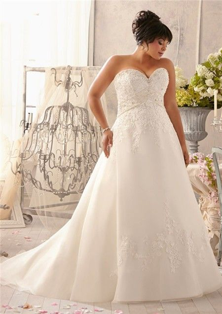 A Line Sweetheart Empire Waist Corset Back Organza Lace Crystal Plus Size Wedding Dress Plus Size Wedding Bridal Dresses Wedding Dress Styles,Fashionable Lace Dress Styles For Wedding Guest