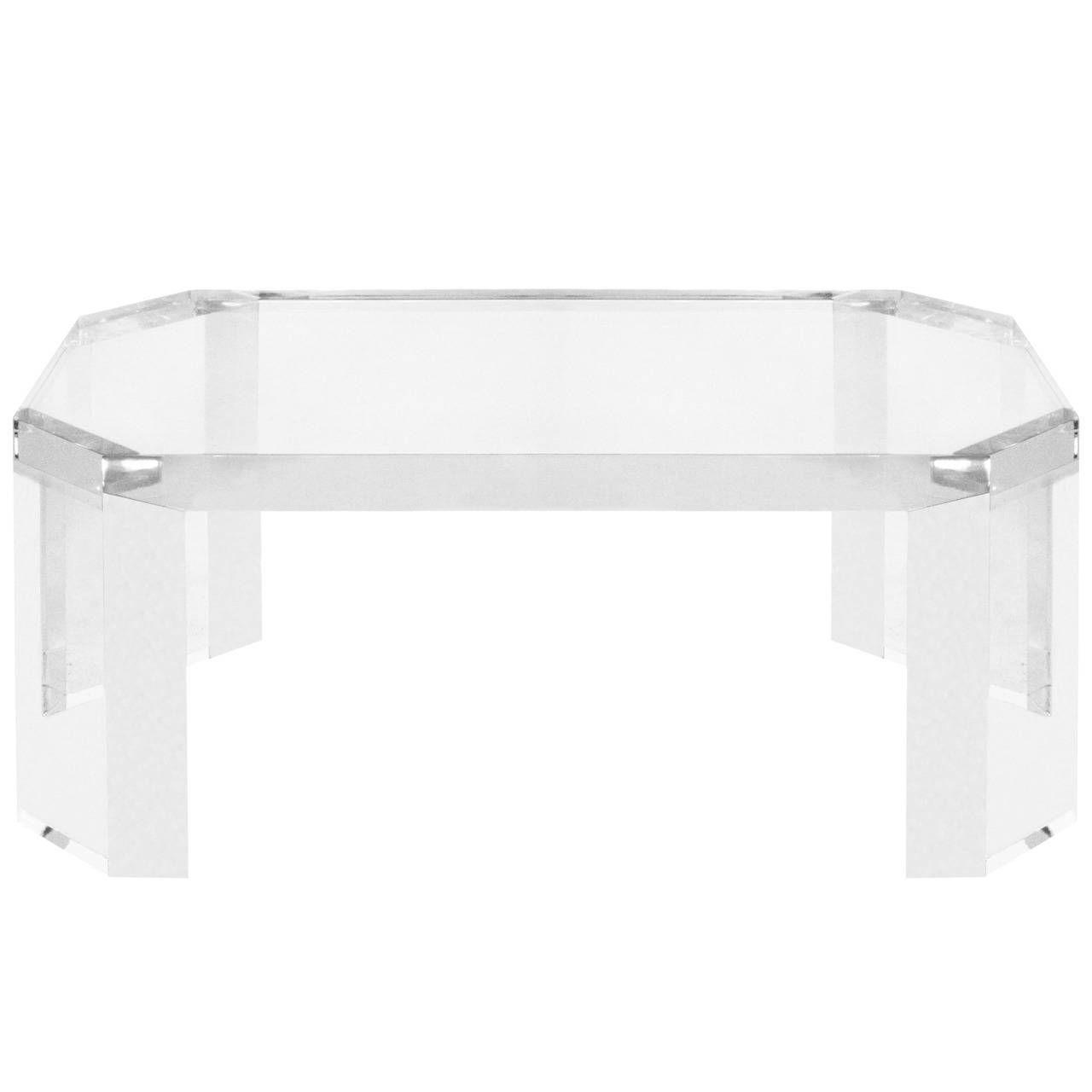 elegant coffee table in thick lucitecharles hollis jones