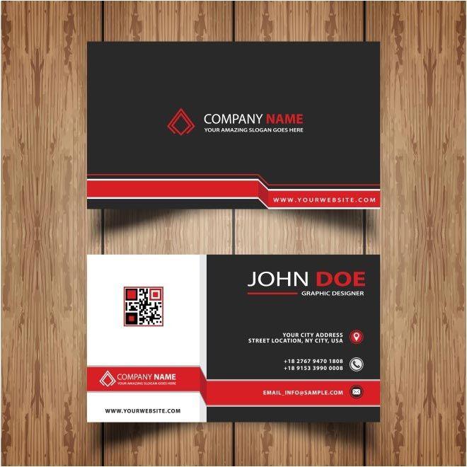 Free Vector John Doe Company Business Cards Free Vector