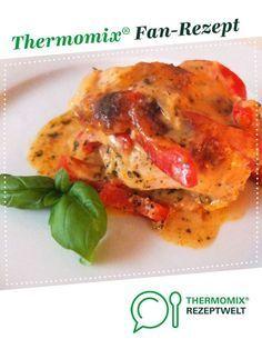 Tomaten-Paprika-Gratin mit Putenbrust