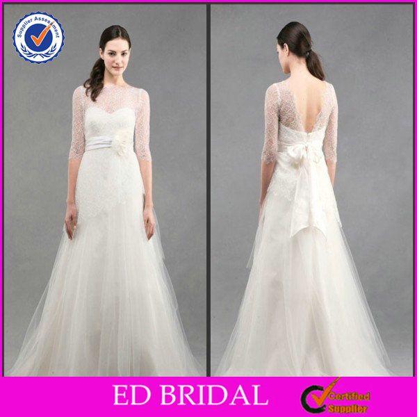 2014 A Line Organza Ribbon Flower Bridal Elie Saab Galina Wholesale Weeding Dress Istanbul