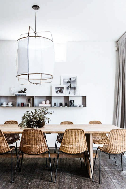 Those woven dining chairs are to die for