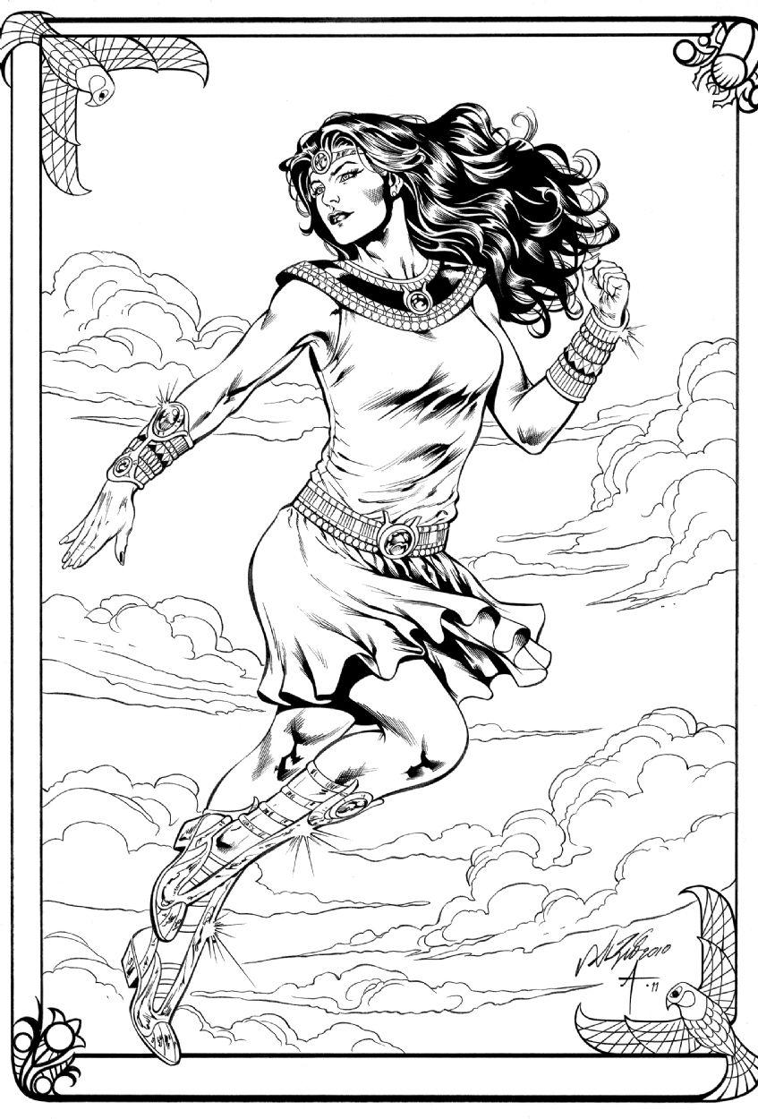 Isis Al Rio Bob Almond Comic Art Adult ColoringColoring BooksColoring