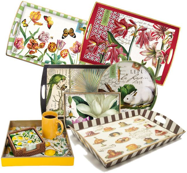 Michel Design Works - Wooden Decoupage Trays