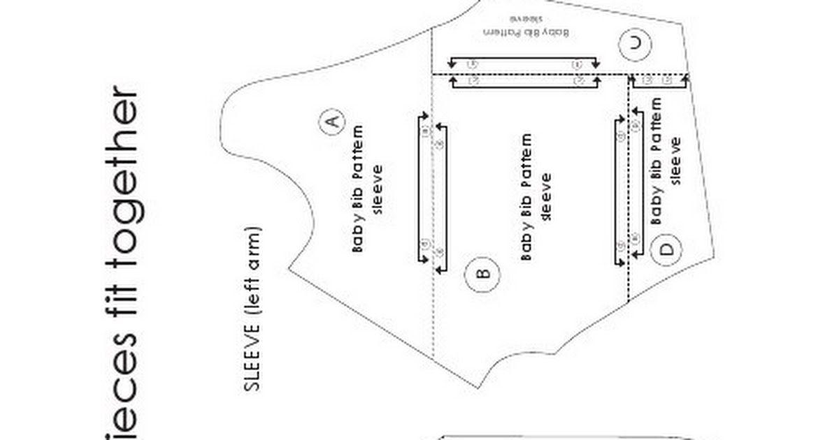 Bib - Long Sleeved Pattern.pdf | class / instructions | Pinterest ...