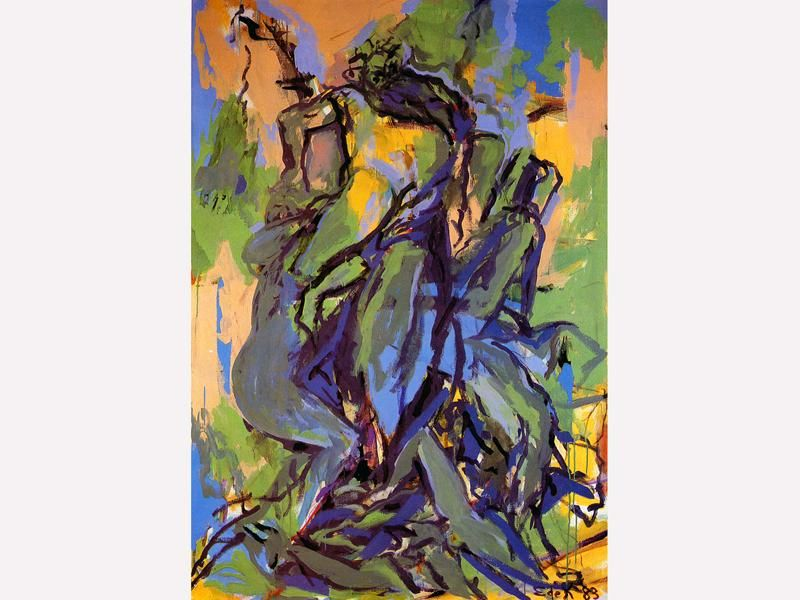 Elaine de Kooning (American, 1918 – 1989), Abstract Expressionist and Figurative Expressionist painter. - Buscar con Google