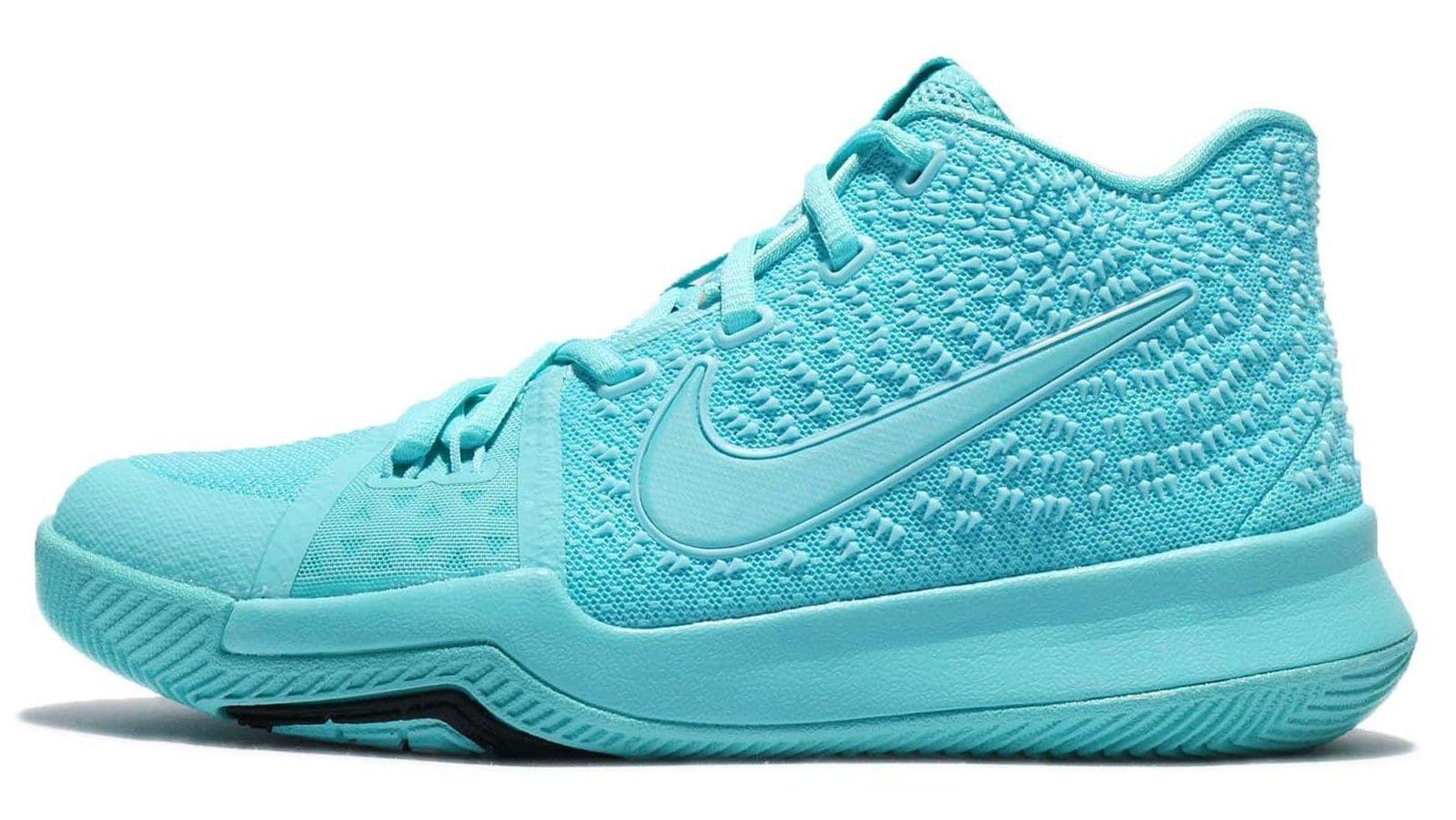 best website 1e6db 0fb2e Nike Kyrie 3 GS Aqua Release Date Profile 859466-401