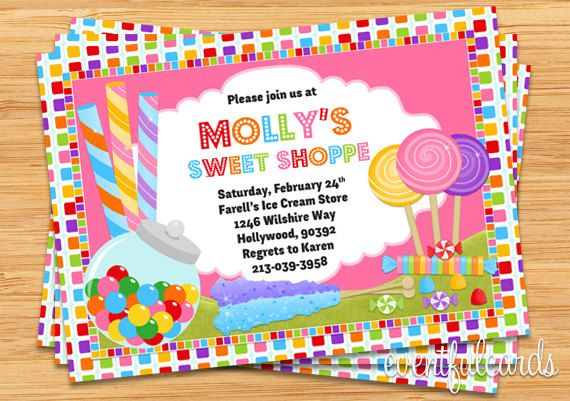 Candy birthday party invitation candyland decorations candy birthday party invitation filmwisefo