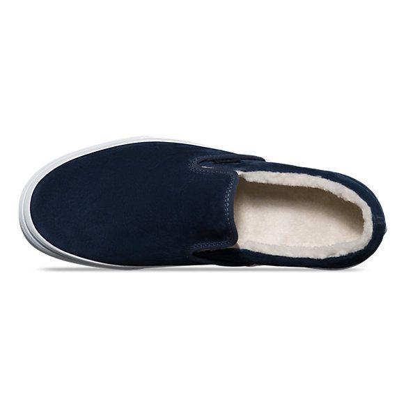 b4ede16c9e6 Suede Fleece Slip-On Vans Slip On