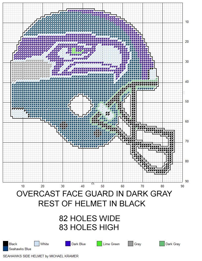 Seattle Seahawks Nfl Side View Football Helmet Plastic Canvas Pattern By Michael Kramer Plastic Canvas Coasters Plastic Canvas Patterns Canvas Patterns