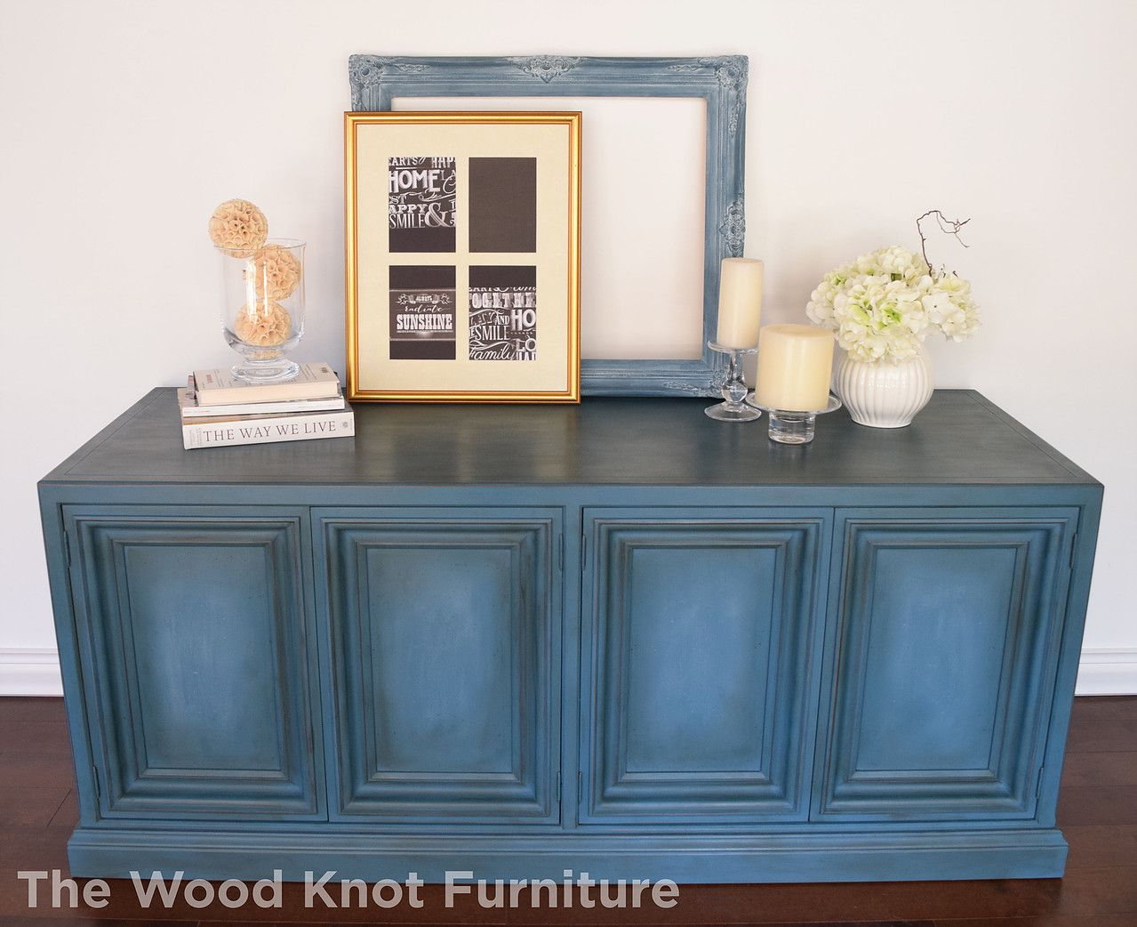 Before and after TV stand, dresser hand painted with Annie Sloan ...