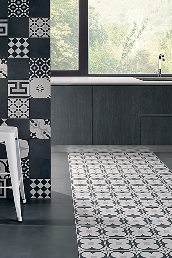 The Cementine Black White Collection Carries 12 Decorative