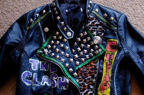 How To Decorate A Leather Jacket DIY New 80s Punk