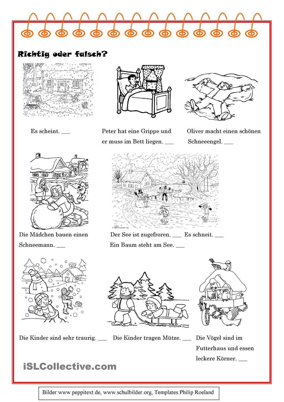 winter 2 daz winter jahreszeiten und grammatik. Black Bedroom Furniture Sets. Home Design Ideas