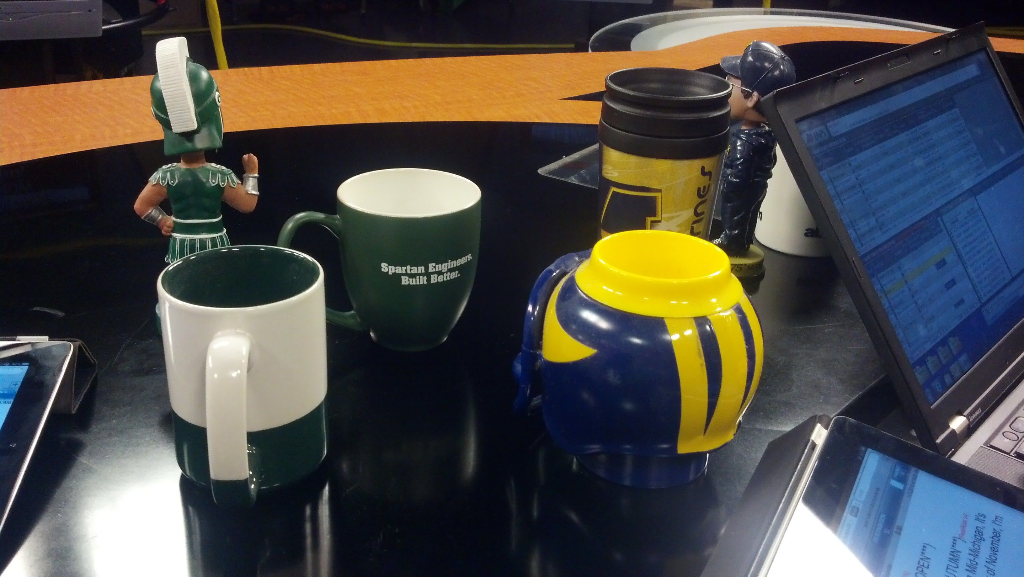 the anchor desk has become a battlefield for the backyard brawl