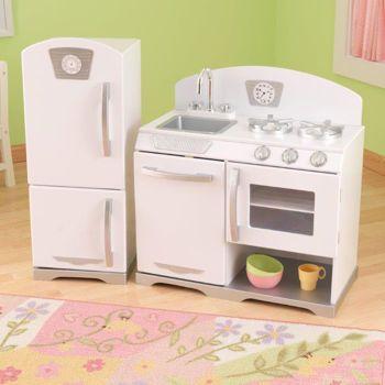 Costco: KidKraft 2pc. Retro Kitchen - White | Golden Nuggets | Pinterest