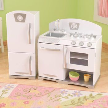 Costco Kidkraft 2pc Retro Kitchen White Retro Kitchen Kids Kitchen White Kitchen