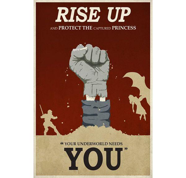dragons lair propaganda poster