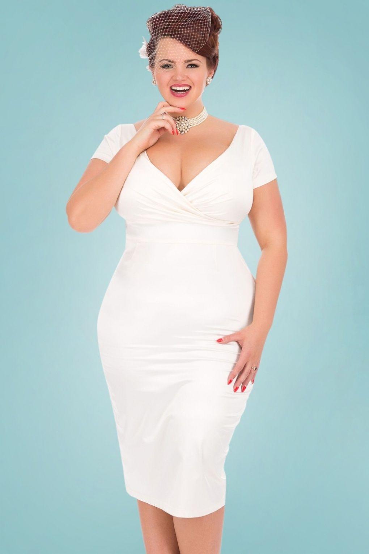 50s Ursula Satin Wedding Pencil Dress In Ivory 1950s Style Wedding Dresses Pencil Dress Wedding Rockabilly Wedding Dresses
