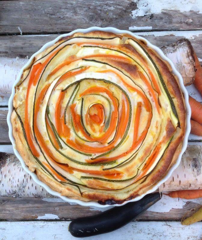 SchwedischHolstein: Möhren - Zucchini Tarte eller Morötter - Zucchini Tarte