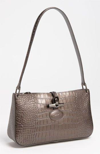 Longchamp 'Roseau Croco - Small' Shoulder Bag | Nordstrom | Bags ...
