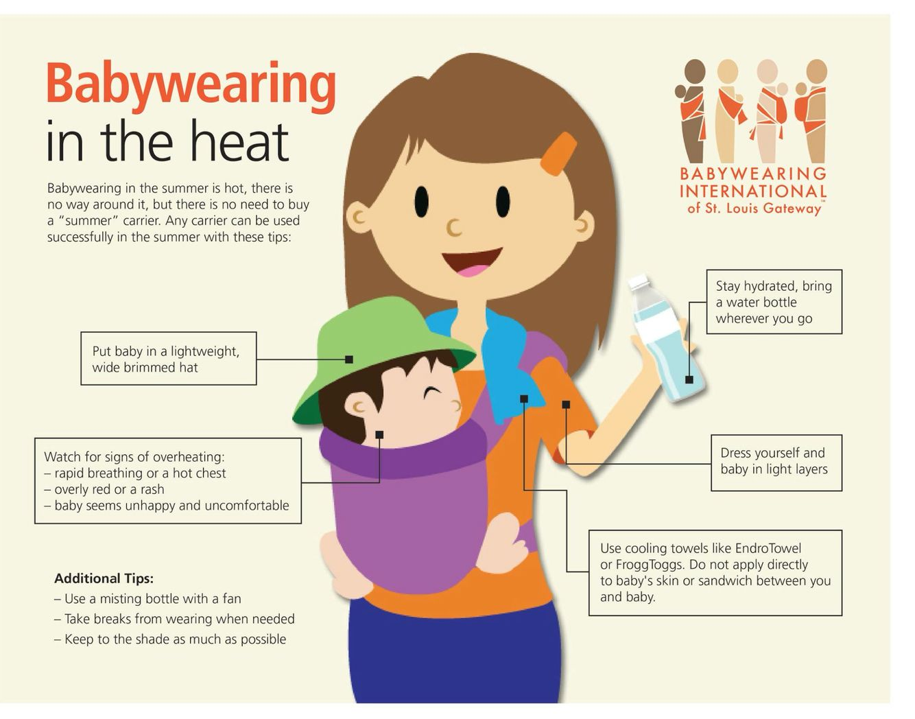 Tips For Babywearing In The Heat Of Summer Baby Pinterest