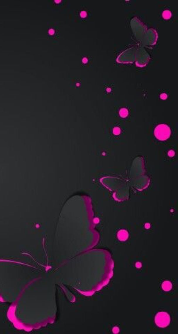Black And Pink Butterfly Butterfly Wallpaper Cute Wallpapers