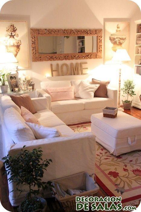 decoración en salones pequeños interiores casas Pinterest