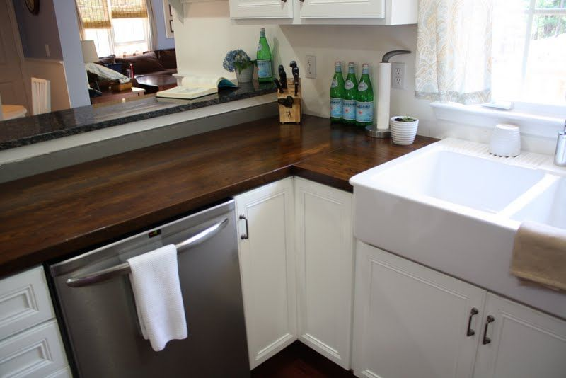 Homemade Butcher Block Countertops | Stillwater Story: How To Stain Butcher  Block Countertops