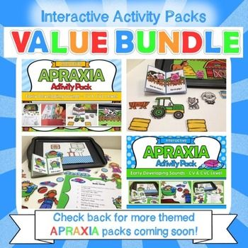 Apraxia - Interactive Apraxia Activities Value Bundle **HUGE Discount for first 48hrs!**