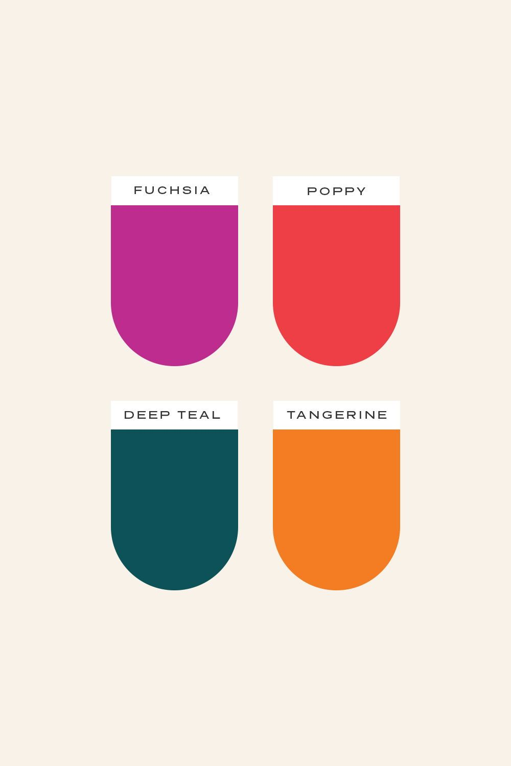 Vibrant, bold, warm color palette curated by Meteor Street Studio | Beautiful brand design and Squarespace websites for passionate businesses and entrepreneurs. Cream, fuchsia, poppy red, dark teal, tangerine orange, pink. #color #colour #bold #vibrant #colorpalette #colourpalette