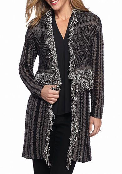 2afc05113a4e New Directions® Stripe Fringe Yoke Cardigan | Sweaters/Cardigans ...