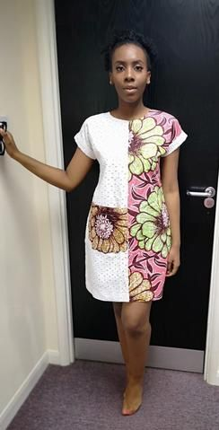 African Ankara Print Shift Dress #africanprintdresses