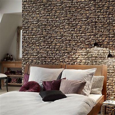 Best Rustic Brick Wall Brick Effect Wallpaper Sand Beige Grey And Black Tones Ebay Brick 640 x 480