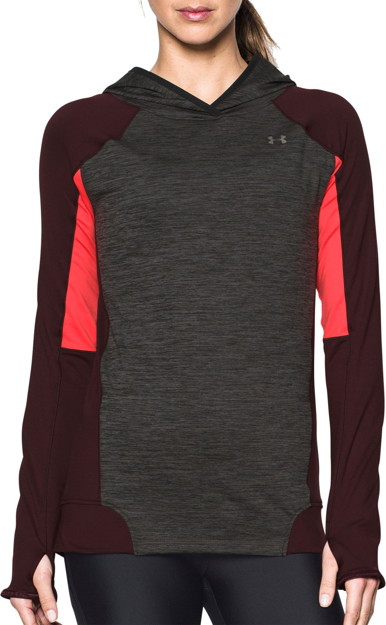womens red under armour hoodie