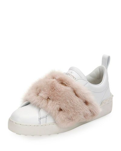 Rockstud Mink Fur Sneaker VALENTINO