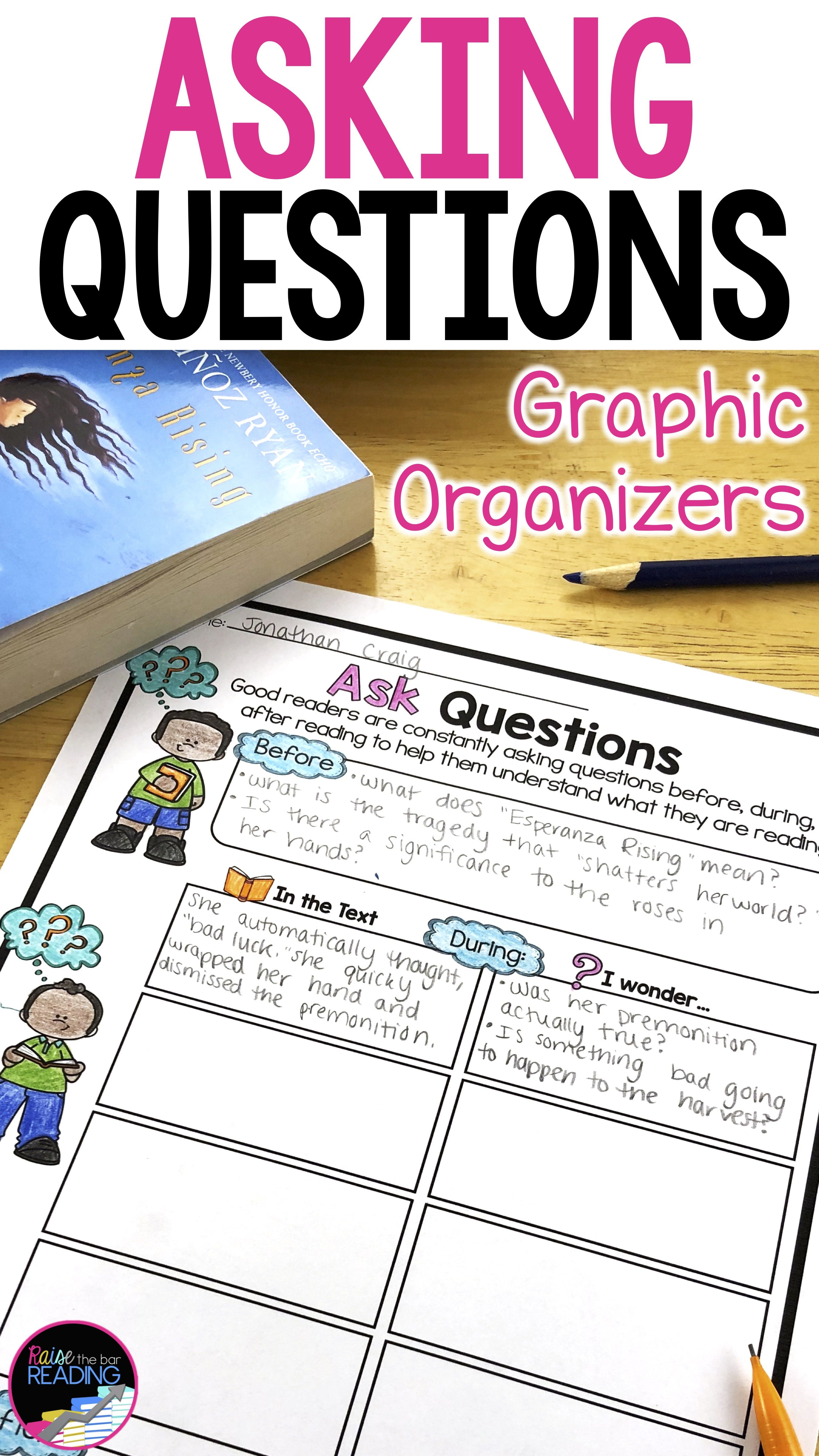 Asking Questions Graphic Organizers Poster Amp Qar