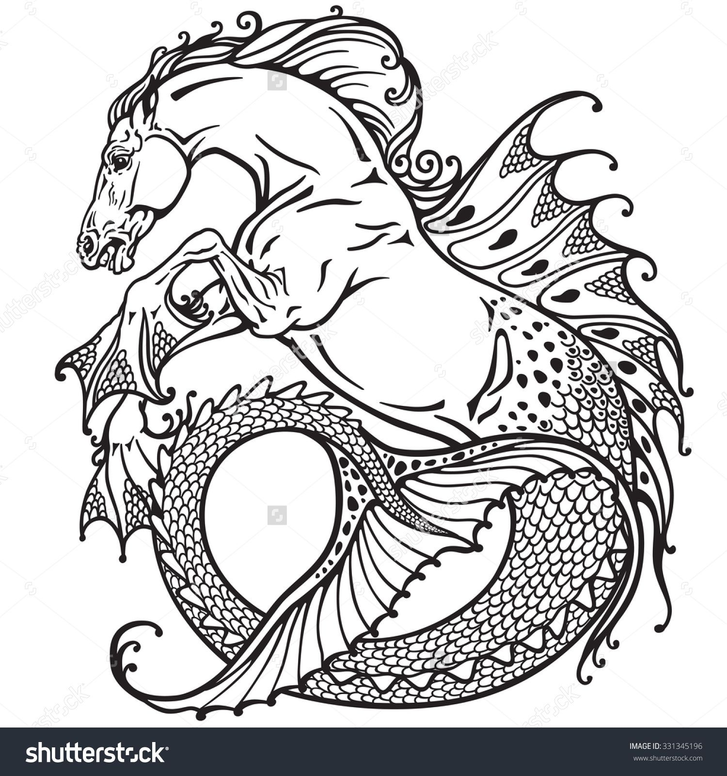 Image Result For Sea Horse Mythical Creature Shest Pinterest