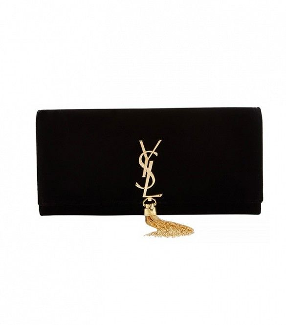 What three accessories should I splurge on? via @WhoWhatWear  Saint Laurent Cassandre Clutch $1390