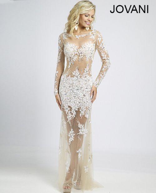 Sheer Beaded Lace Prom Dress 89256 | Dress to Impress | Pinterest ...