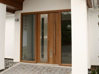 contemporary double entry doors | Modern Front Door: Modern Glass ...