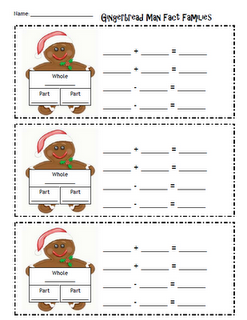 Here's a form for fact families with a gingerbread theme.