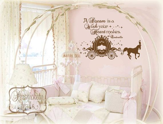 A Dream is a Wish your Heart makes with elegant Cinderella Carriage - vinyl wall decal - choose your color on Etsy $34.00  sc 1 st  Pinterest & A Dream is a Wish your Heart makes with elegant Cinderella Carriage ...